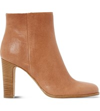Dune Oliva Leather Ankle Boots Tan Leather