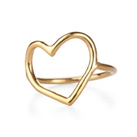 Chupi My Heart Is Open Ring In Gold