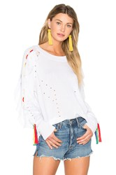 Wildfox Couture Solid Sweater White