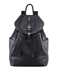 Perforated Skull Leather Backpack Black Alexander Mcqueen