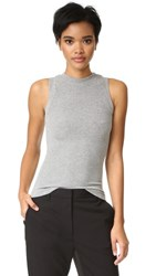 Getting Back To Square One Ribbed Muscle Tee Grey