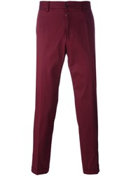 Dolce And Gabbana Classic Chinos Red