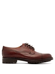 Cheaney Cairgorm Textured Leather Derby Shoes Burgundy