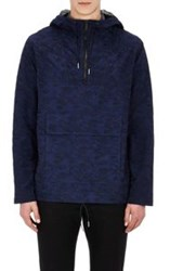 Marc By Marc Jacobs Doodle Pattern Hooded Sweatshirt Blue