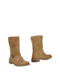 Le Crown Footwear Ankle Boots Women Camel