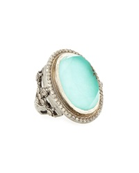 Armenta New World Green Turquoise And Diamond Ring Size 6.5