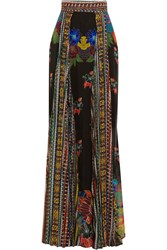 Just Cavalli Printed Chiffon Maxi Skirt Black