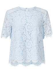 John Lewis Camile Lace Shell Top Light Blue