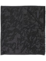 Tom Ford Camouflage Brocade Knitted Scarf Black