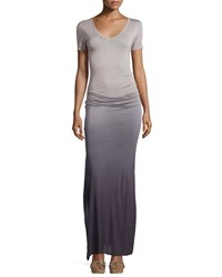 Young Fabulous And Broke Young Fabulous And Broke Bentley Ruched Ombre Maxi Dress Grey Ombre