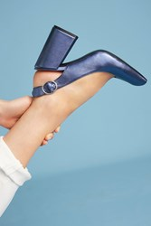Anthropologie Shelly's London Chester Slingback Heels Blue