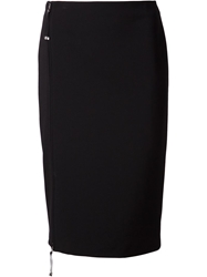 Ralph Lauren Black Off Centre Zip Pencil Skirt