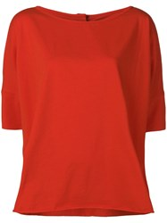 Stefano Mortari Oversized T Shirt Red