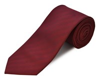 Double Two Clip On Polyester Tie Red