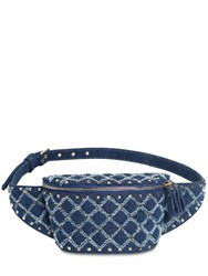 Valentino Garavani Spike Denim Belt Bag