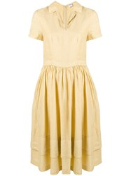 Aspesi Flared Midi Dress Yellow