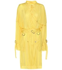 Public School Exclusive To Mytheresa.Com Quinn Mesh Trench Coat Yellow
