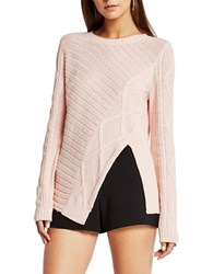 Bcbgeneration Solid Ribbed Pullover Rose Smoke