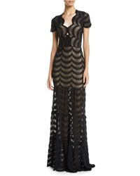 bc63c5144a8f Nightcap Clothing Fiesta Fan Lace Cap Sleeve Gown Black