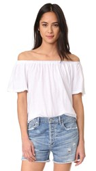 Sundry Off The Shoulder Top White