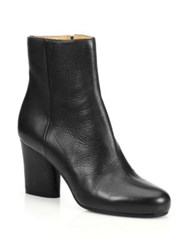 Maison Martin Margiela Leather New Heel Ankle Booties Black