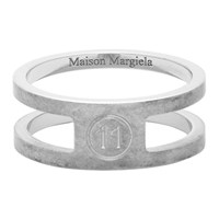 Maison Martin Margiela Silver Decortique Logo Ring