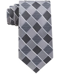 Geoffrey Beene Men's Sunlaid Grid Tie Black