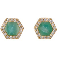 Monique Pean Women's Hexagonal Opalina Stud Earrings No Color