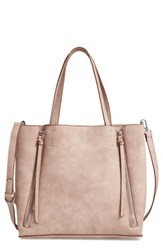 Chelsea 28 Chelsea28 Leigh Convertible Zipper Faux Leather Tote Pink Pink Fawn