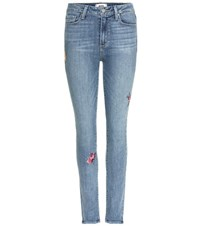 Paige Hoxton Ankle Skinny Jeans Blue