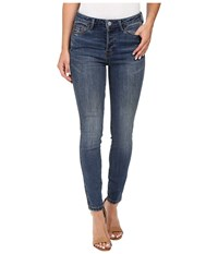 Free People Payton High Rise Skinny In Denim Blue Denim Blue Women's Jeans