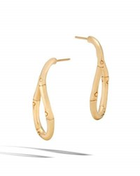 John Hardy Bamboo Twist 18K Gold Hoop Earrings