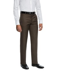 Hickey Freeman Traveler 360 Dress Trousers Brown