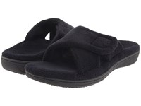 Vionic Relax Black Terry Slippers