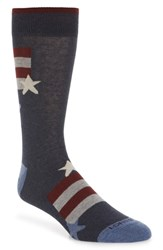 Lorenzo Uomo Stars And Stripes Socks Denim