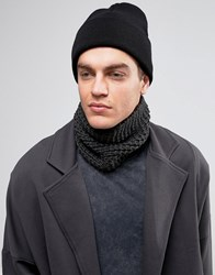 Asos Knitted Snood In Grey Slate Grey