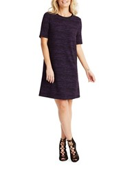 Donna Morgan Short Sleeve Knit Dress Black Purple
