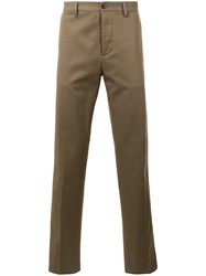 Massimo Piombo Mp Tapered Trousers Men Cotton 52 Green