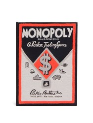 Olympia Le Tan Monopoly Parker Trading Game Box Clutch Black Red