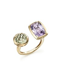 Bloomingdale's Rose De France Amethyst And Green Amethyst Statement Ring In 14K Yellow Gold 100 Exclusive Purple Green