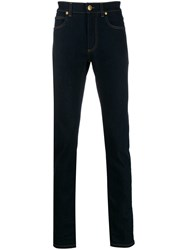 Versace Slim Fit Contrast Stitch Jeans 60