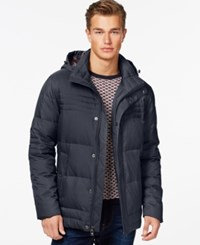 Ryan Seacrest Distinction Down Heather Jacket Navy