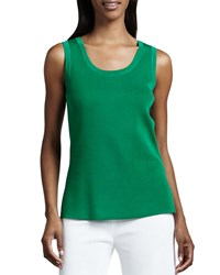 Misook Amy Knit Tank Putting Green