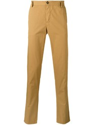Kenzo Straight Leg Chinos Men Cotton 50 Brown