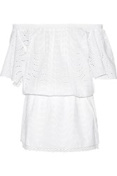 Melissa Odabash Michea Broderie Anglaise Cotton Coverup White