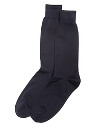 The Men's Store At Bloomingdale's The Men's Store At Bloomingdales Cotton Blend Dress Socks Navy