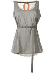 N 21 No21 Sleeveless Belted Top Grey
