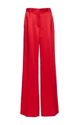 Givenchy Heavy Satin Trousers Red
