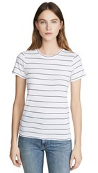 Club Monaco Leary Tee Navy White Stripe