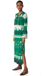Yigal Azrouel Long Sleeve Caftan Bright Green